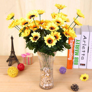 Artificial Flower-Fake Plastic Sunflowers Bouquet Home Wedding Decor