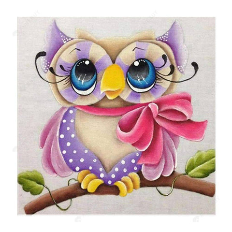 Diamond Painting-Partial Drill Bear Daisy Owl Bear
