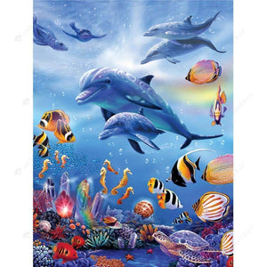 Diamond Painting-Partial Drill Sea World