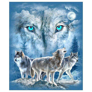 Diamond Painting-Partial Drill Wolf