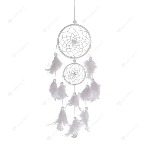 Dream Catcher-Handmade Catcher Feather Wall Car Hang Decor White