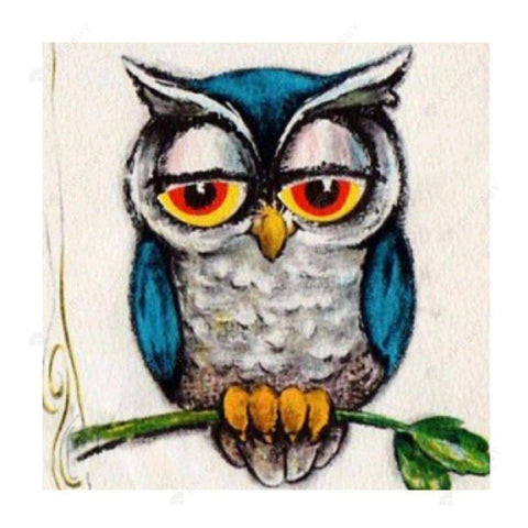 Diamond Painting-5D Full Drill Owl Animal