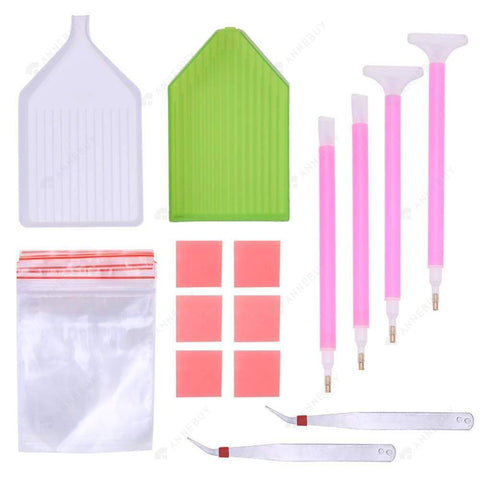 Painting Accessories-Multi-function Embroidery Cross Stitch Diamond Tools Set(6)