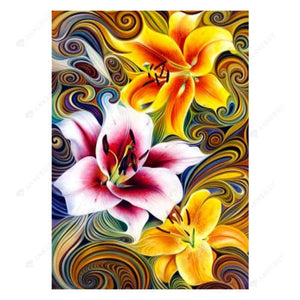 Diamond Painting-5D Full Round Drill Flower