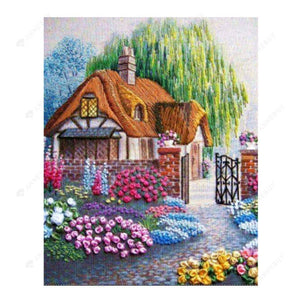 Diamond Painting-5D Full Drill Scenery House
