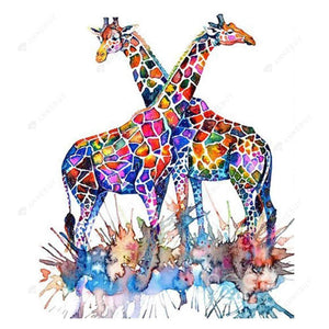Diamond Painting-Partial Drill Giraffe