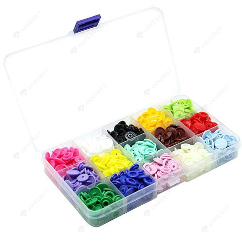 DIY Sewing-150 Sets 15 Colors Resin DIY Clothing Snap Buttons Craft