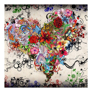 Diamond Painting-5D Full Drill Colorful Heart