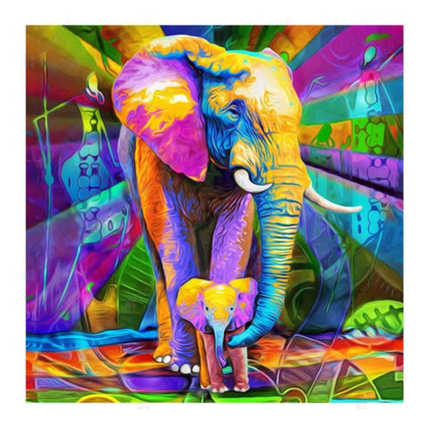 Diamond Painting-5D Full Drill Elephant