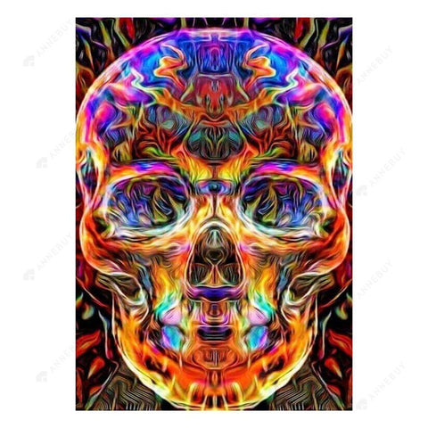 Diamond Painting-5D Full Drill Colorful Skull