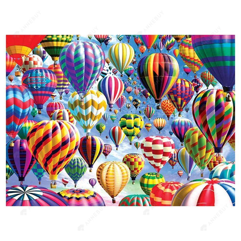 Diamond Painting-5D DIY Full Round Drill Hot Air Balloon