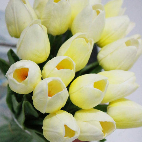 Artificial Flower-10pcs/set Simulation PU Tulip Flower Bridal Bouquets