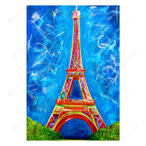 Diamond Painting-5D Full Drill Scenery Tower