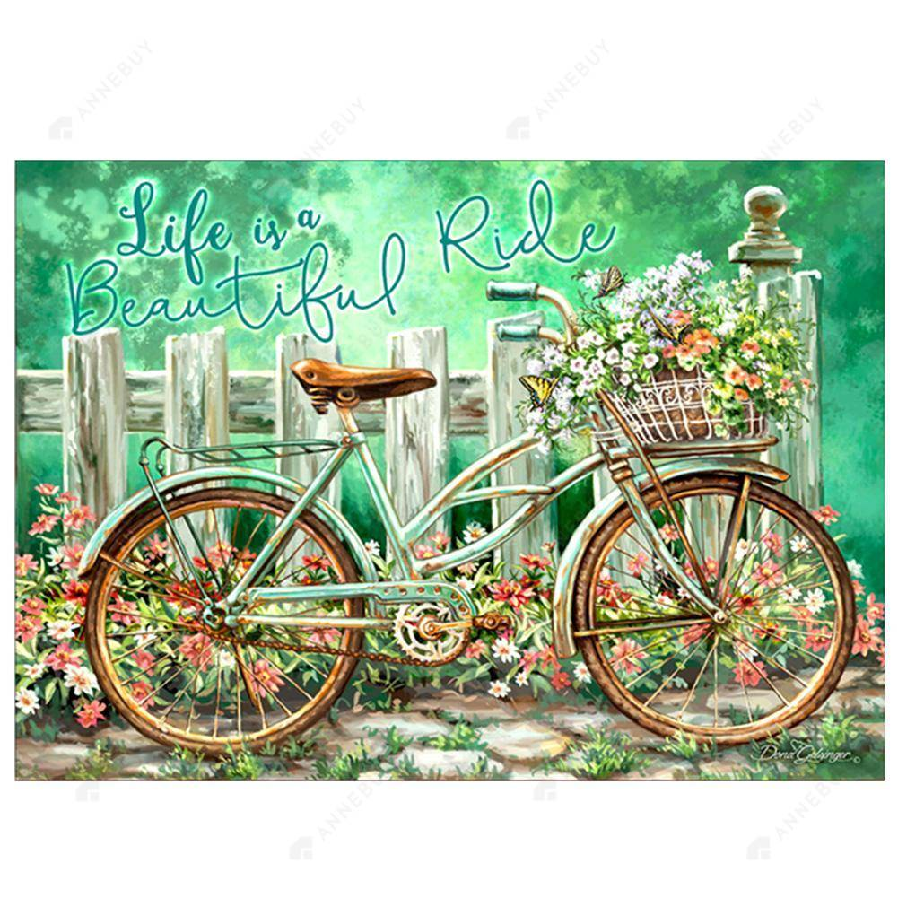 Diamond Painting-Partial Drill Bicycle