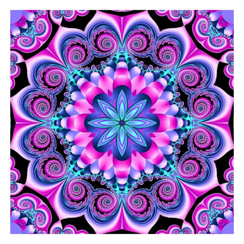 Diamond Painting-5D Full Round Drill Mandala Geometric Flower