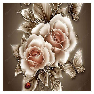 Diamond Painting-5D Full Round Drill Vintage Flower