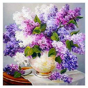 Diamond Painting-5D Full Round Drill Lavender