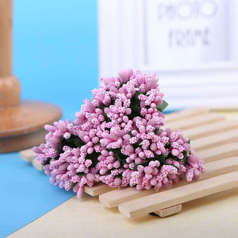 Artificial Flower-12pcs Dried Stamen Flowers DIY Garland Fake Flower