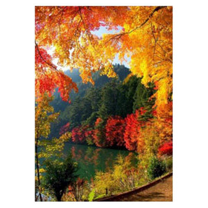 Diamond Painting-5D Full Drill Autumn Lake