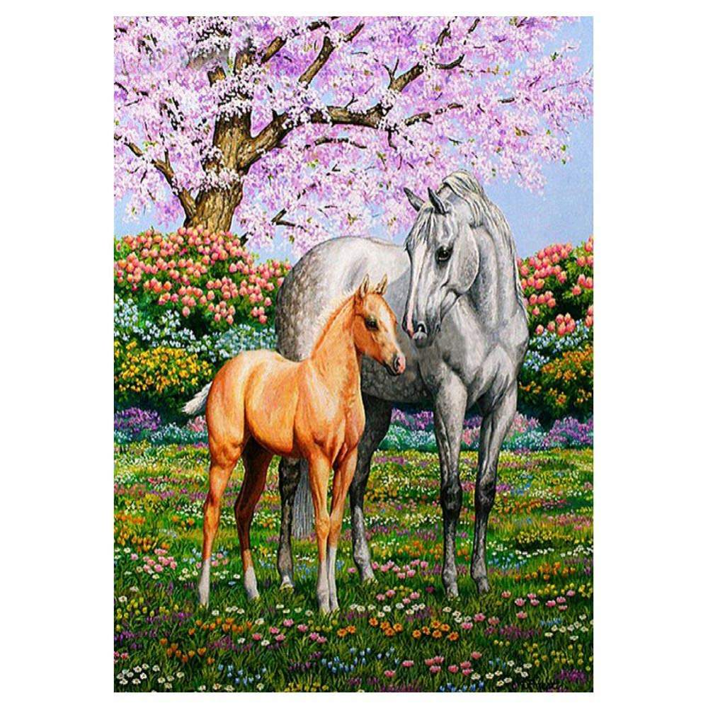 Diamond Painting-5D Full Drill Round Beads Horses