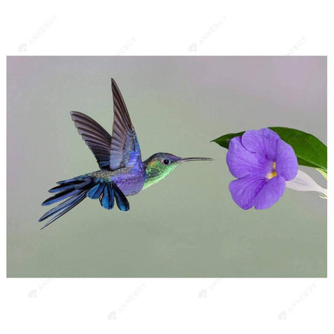 Diamond Painting-Partial Drill Bird Flower