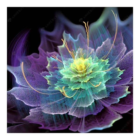 Diamond Painting-Partial Round Drill Purple Flower