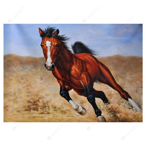 Diamond Painting-Partial Drill Running Horse