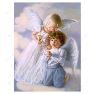 Diamond Painting-5D Full Round Drill Cute Angels