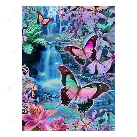 Diamond Painting-5D Full Drill Butterfly