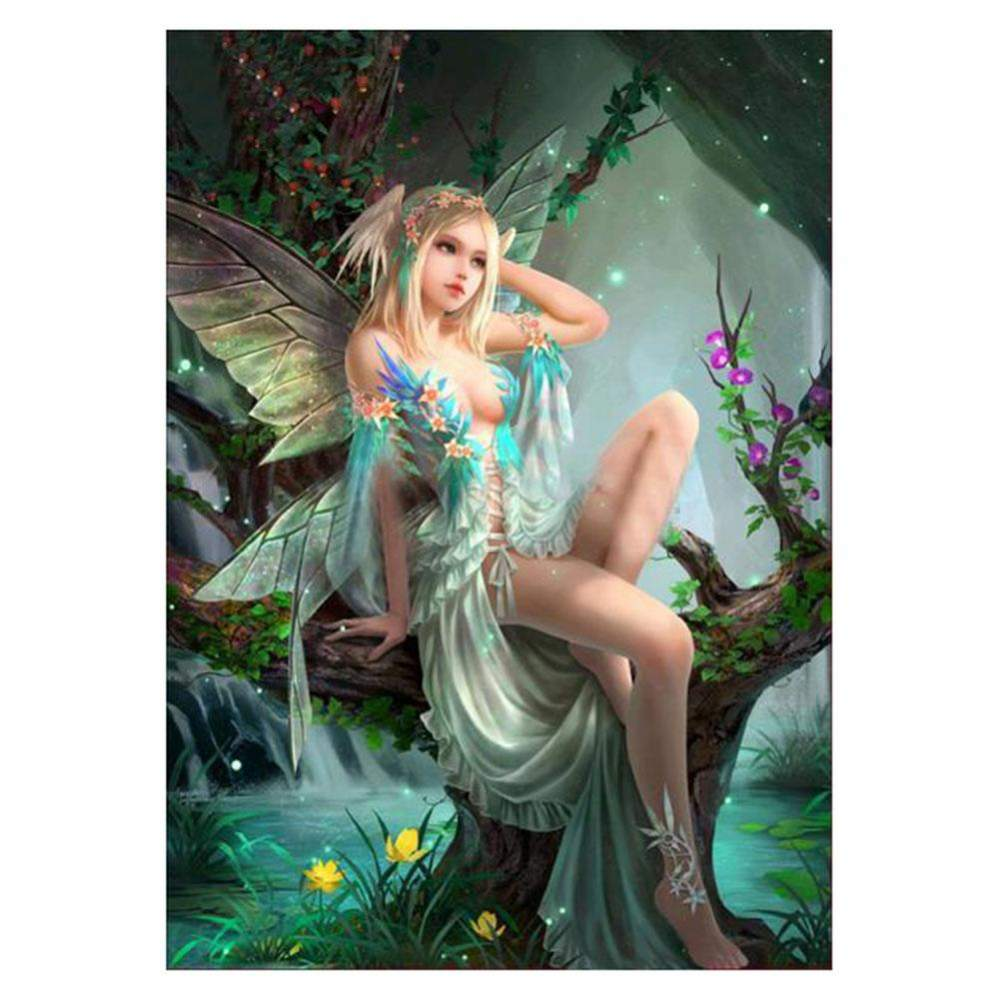 Diamond Painting-5D Full Round Drill Tree Fairy