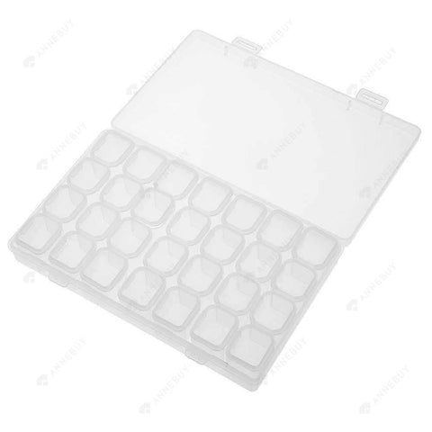 Drill Storage Box-Bead Storage Box Plastic Empty Storage Box