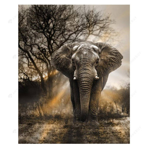 Diamond Painting-Partial Drill Elephant