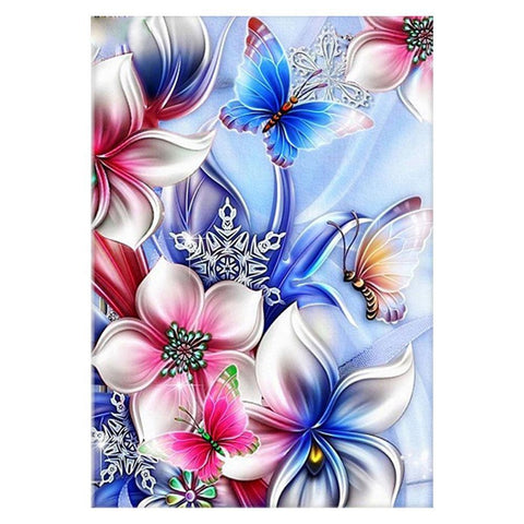 Diamond Painting-5D Full Drill Flower Butterfly