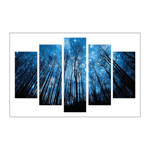 Diamond Painting-5D Full Round Drill 5pcs Forest