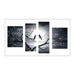 Diamond Painting-5D Full Drill 4pcs Birds