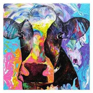 Diamond Painting-5D Full Drill Colorful Cattle