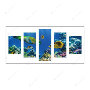 Diamond Painting-5D Full Round Drill 5pcs Marine Organism