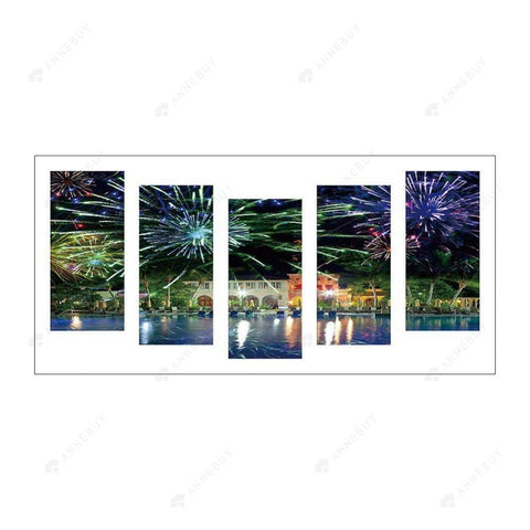 Diamond Painting-5D Full Round Drill 5pcs Waterside City