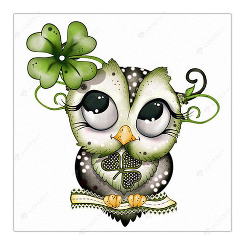 Diamond Painting-Partial Round Drill Cartoon Owl