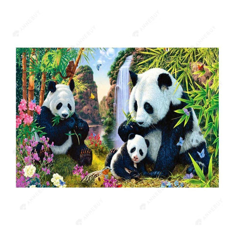 Diamond Painting-5D Full Drill Cute Panda