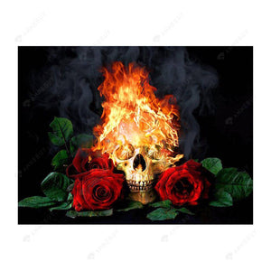 Diamond Painting-5D Full Drill Fire Rose