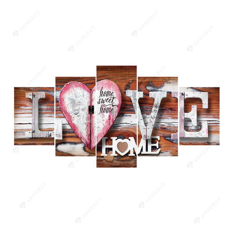 Diamond Painting-5D Full Round Drill 5pcs LOVE HOME