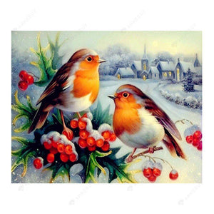 Diamond Painting-5D Full Drill Snow Birds