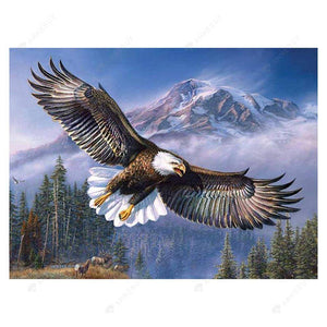 Diamond Painting-5D Full Drill Round Beads Flying Eagle
