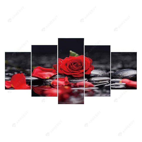 Diamond Painting-5D Full Round Drill 5pcs Roses