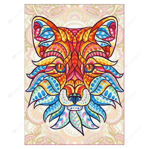 Diamond Painting-Partial Drill Colorful Tiger