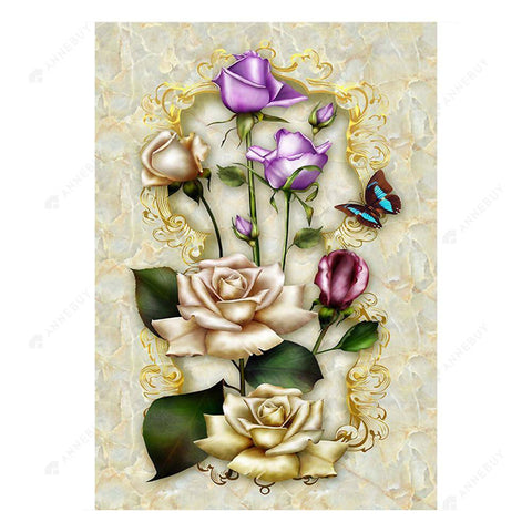 Diamond Painting-5D Full Drill Flowers