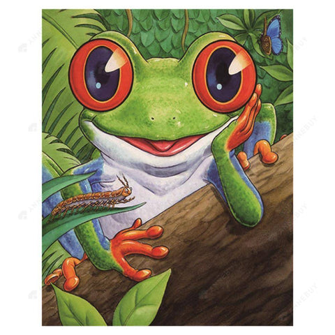 Diamond Painting-Partial Round Drill Cartoon Frog