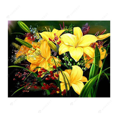 Diamond Painting-5D Full Drill Yellow Flowers