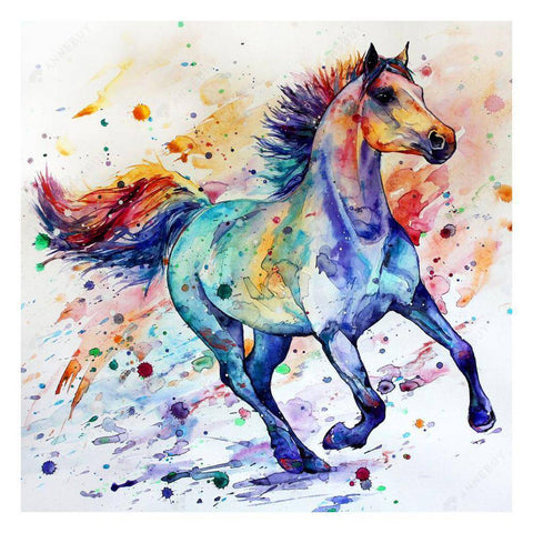 Diamond Painting-5D Full Drill Colorful Horse